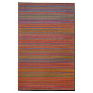 Prater Mills Indoor/Outdoor Reversible Multicolor Rug
