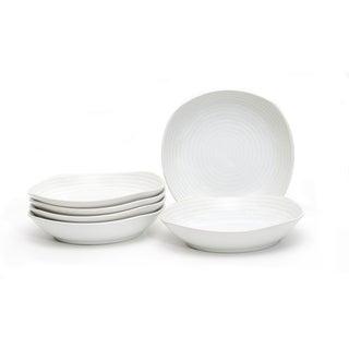 Red Vanilla White Rice 9-inch Pasta Bowls (Set of 6)