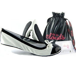 White Retro Folding Flat Shoes