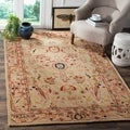 Hand-made Anatolia Ivory Hand-spun Wool Rug (9&#39;6 x 13&#39;6)