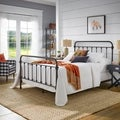 ETHAN HOME Giselle Black Graceful Lines Victorian Iron Metal Bed