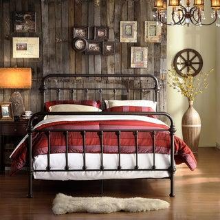 INSPIRE Q Giselle Antique Dark Bronze Graceful Lines Victorian Iron Metal Bed
