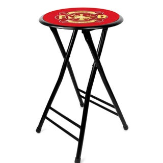Fire Fighter 24-inch Cushioned Folding Stool