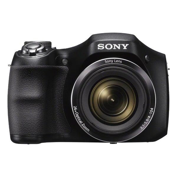 Sony Cyber Shot DSC-H200 20.1MP Black Digital Camera