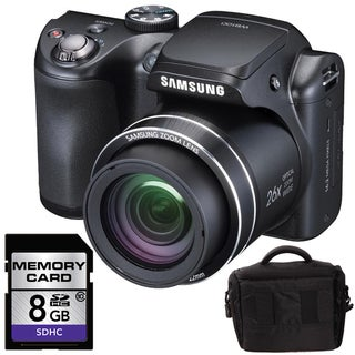 Samsung WB100 16MP Digital Camera with 8GB Bundle
