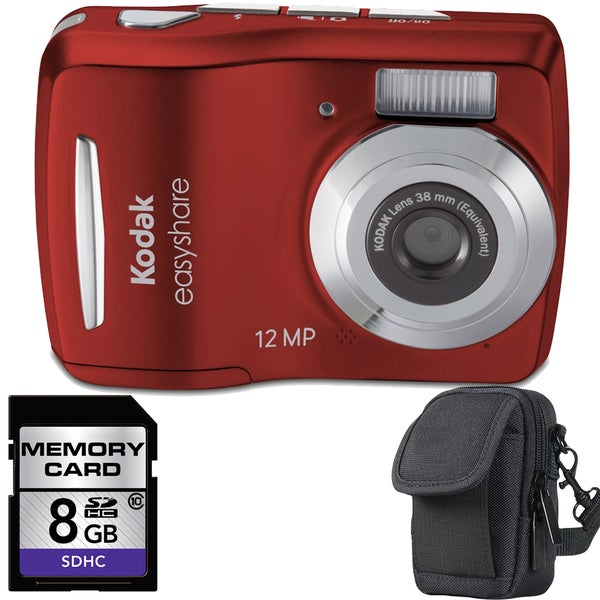 Kodak EasyShare C1505 12MP Digital Camera with 8GB Bundle