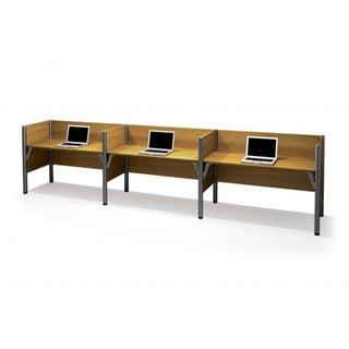 Bestar Pro-Biz 43-inch Side-by-Side Triple Workstation