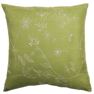 Rose Tree Belclaire 18-inch Embroidered Decorative Pillow