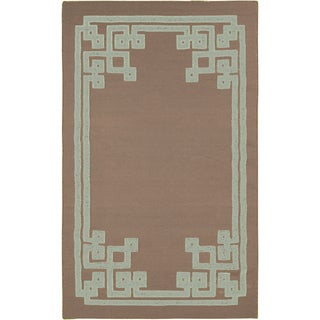 Beth Lacefield Hand-woven Adam Reversible Taupe Wool Rug (8' x 11')