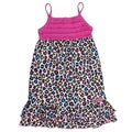 XOXO Girl's Cheetah Print with Pink Upper Area Dress