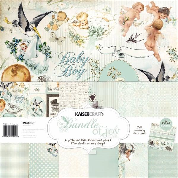"Bundle Of Joy Paper Pack 12""X12""-Boy"