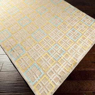 Annelise Contemporary Yellow Geometric Rug (7'6 x 10'6)