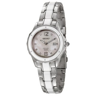 Seiko Women's 'Coutura' Mother of Pearl Two-tone Watch