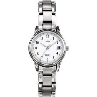 Timex Women's Elevated Classics Dress Silvertone Steel Bracelet Watch