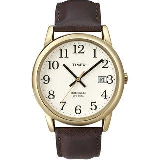 Timex Men's Easy Reader Brown Leather Strap Watch