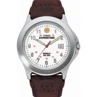 Timex Men's Expedition Metal Field Brown Leather Strap Watch