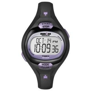 Timex Women's Ironman Pulse Calculator Black/ Purple Resin Watch
