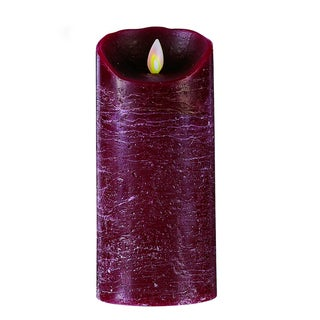 MYSTIQUE FLAMELESS CANDLE BURGUNDY DISTRESSED