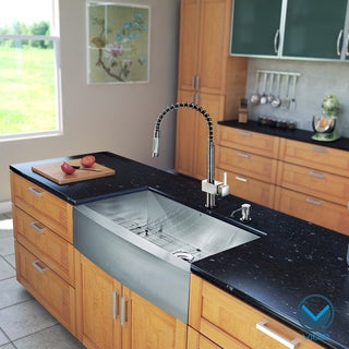 Vigo All-in-one 36-inch Farmhouse Stainless Steel Kitchen Sink and Faucet