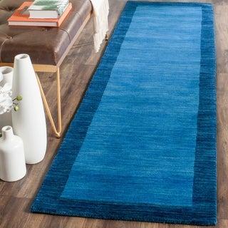 Safavieh Handmade Himalayan Gabeh Blue Wool Rug (2'3 x 10')