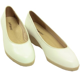 Softspots Women's 'Stephanie' White Leather Comfort Shoes