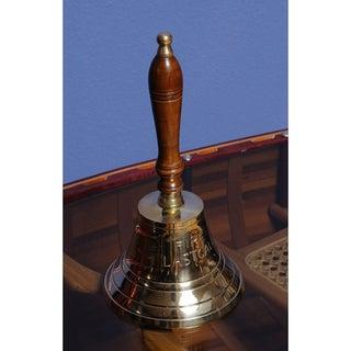 Old Modern Handicrafts 'Fire Last Call' Brass Hand Bell
