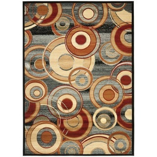 Safavieh Lyndhurst Circ Grey/ Multi-colored Rug (8'11 x 12')