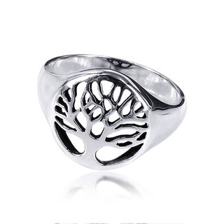 Sterling Silver Flourishing Tree of Life Ring (Thailand)