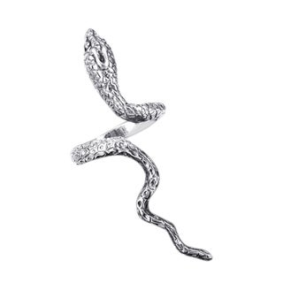 Silver Rare Cobra Snake Coil Wrap Around Ring (Thailand)