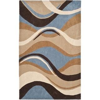 Safavieh Handmade Avant-garde Waves Blue Rug (9' x 12')