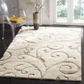 Ultimate Cream/ Beige Shag Rug (2'3 x 4')
