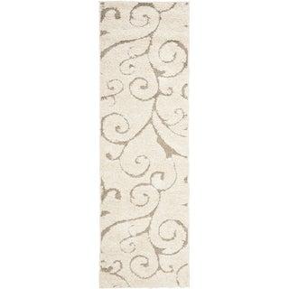 Safavieh Ultimate Cream/ Beige Shag Rug (2'3 x 8')