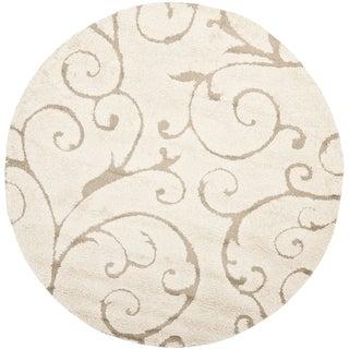 Safavieh Ultimate Cream/ Beige Shag Rug (8' Round)