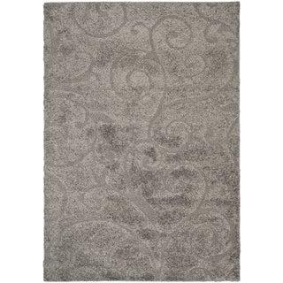 Safavieh Ultimate Dark Grey/ Beige Shag Rug (6' x 9')