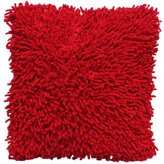Red Shagadelic Chenille 18-inch Double Side Pillow