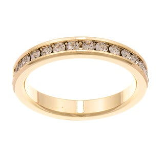 City by City City Style Goldtone Clear Cubic Zirconia Eternity Band