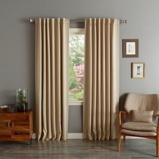 Lights Out Solid Insulated Thermal Blackout 120-inch Curtain Panel Pair