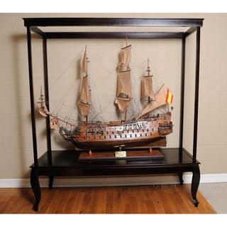 Old Modern Handicrafts Display Case for Extra-Large Model Ship