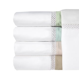 Grand Luxe Egyptian Cotton Duetta 300 Thread Count Deep Pocket Sheet Separates and Pillowcase Separates