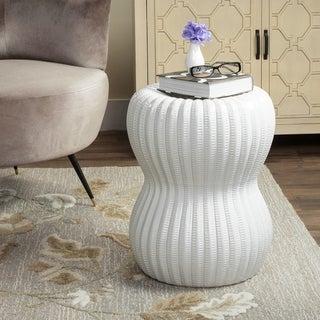 Safavieh Paradise Oval White Ceramic Garden Stool