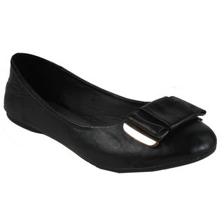 Spicy by Beston Women's Bow Flats