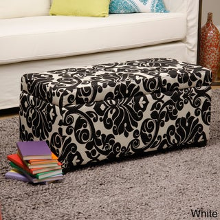 Bolbolac Floral Print Storage Ottoman with Button