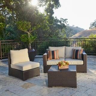 Corvus Matura 4-piece Sorrel Finished Resin Wicker Outdoor Seating Set