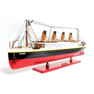 Old Modern Handicrafts Painted Medium Titanic Model Ship