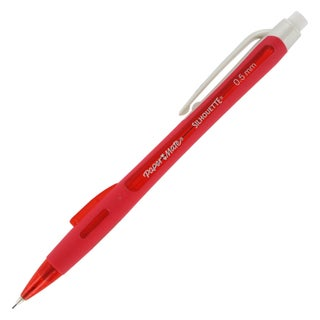 Paper Mate Silhouette Red Barrel 0.5 mm Mechanical Pencils (Pack of 12)