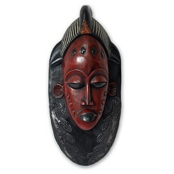 Handcrafted Sese Wood 'Supremacy' African Mask (Ghana)