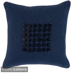 Kaylee Button Detail 18-inch Decorative Pillow