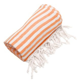 Authentic Pestamal Fouta Orange Turkish Cotton Bath/ Beach Towel