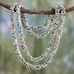 Turquoise 'Song of the Sky' Beaded Necklace (India)