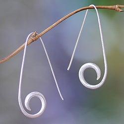 Sterling Silver 'Balinese Fern' Earrings (Indonesia)